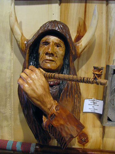 Horn Mountain Living - Carved Wood Sculpture