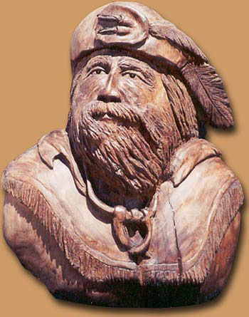 Horn Mountain Living - Carved Wood Sculpture - Mountain Man