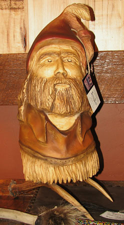 Horn Mountain Living - Carved Wood Sculpture - Pierre